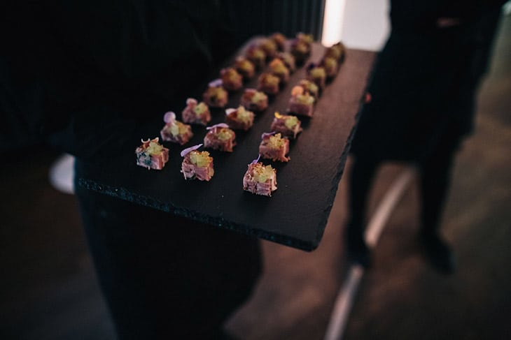 Ham Hock Canapé from TopHat (Photo by Heather Shuker)