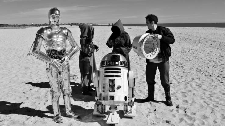 15. What does C-3PO say that his and R2-D2