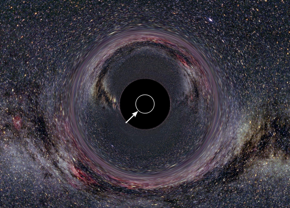 17. The point of no return surrounding a black hole is called what?