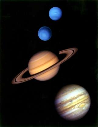 28. The outer planets are known as what?