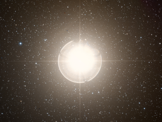 45. If Betelgeuse, a red supergiant, replaced our sun, how far out would it extend?