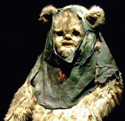 12. What is the name of the small, teddy-bearlike creatures that inhabir the forest moon of Endor?