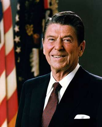 40. Who was the 40th president of the United States?