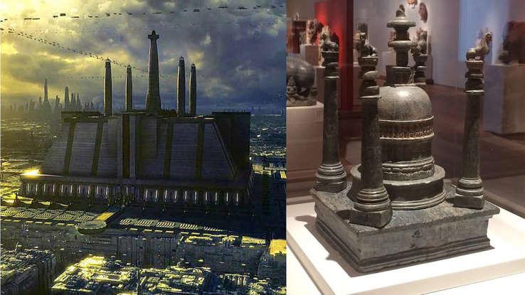 15. How many Jedi are sitting in the Jedi Temple scene?
