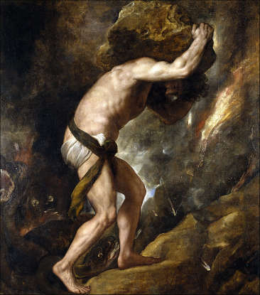 10. Sisyphus is punished by Zeus for what?