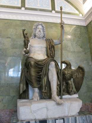 14. Who is the king of the gods in Roman mythology?