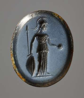 21. Whose head does the goddess Athena wear on her shield?