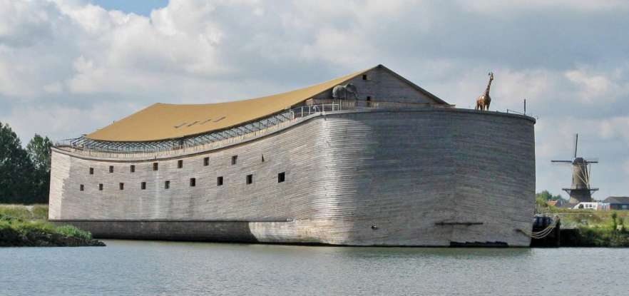 1. How many days does it rain when Noah is in the ark?
