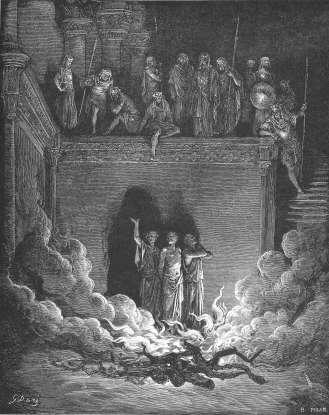 13. Nebuchadnezzar threw which three men into the furnace?