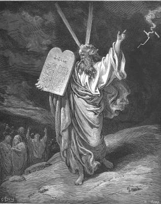 31. On which mountain does Moses receive the Ten Commandments?