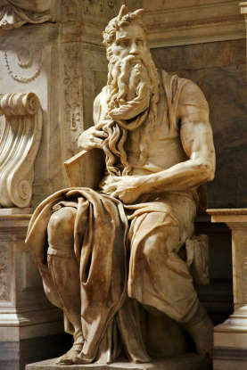 37. How old is Moses when he dies?
