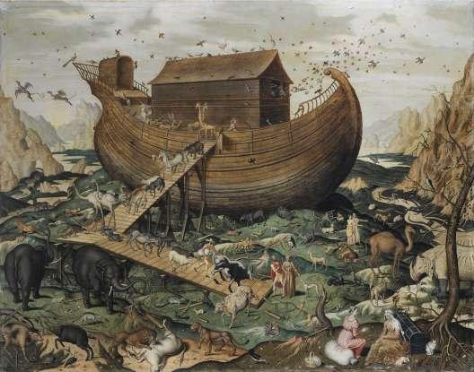 42. When the flood waters recede, Noah