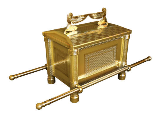 47. What three things are kept in the tabernacle while Israel wanders in the desert?