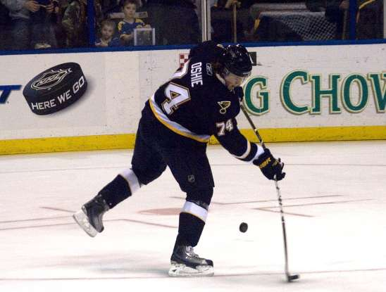 22. Who scored the very first goal in the Blues franchise history?