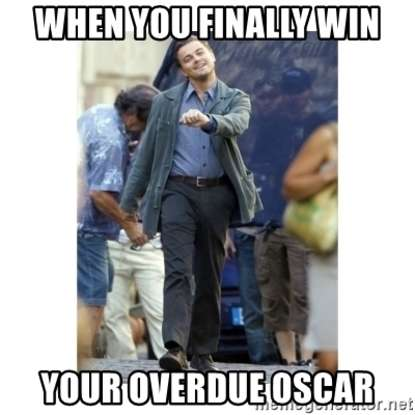 6. Who became the subject of many memes after he won an Oscar for Best Actor at the 2016 Academy Awards?