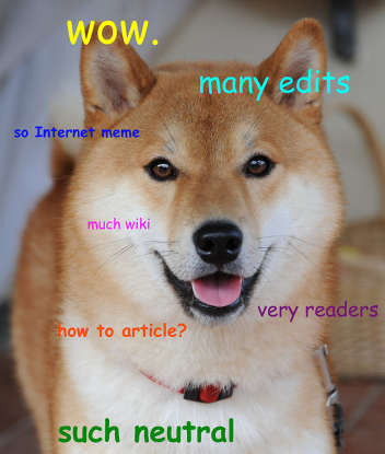23. Which meme typically features a confused-looking Shibu Inu with broken words and phrases in Comic Sans font?