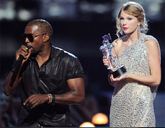 27. Who became the subject of many memes for interrupting Taylor Swift during her acceptance speech at the 2009 MTV Video Music Awards?