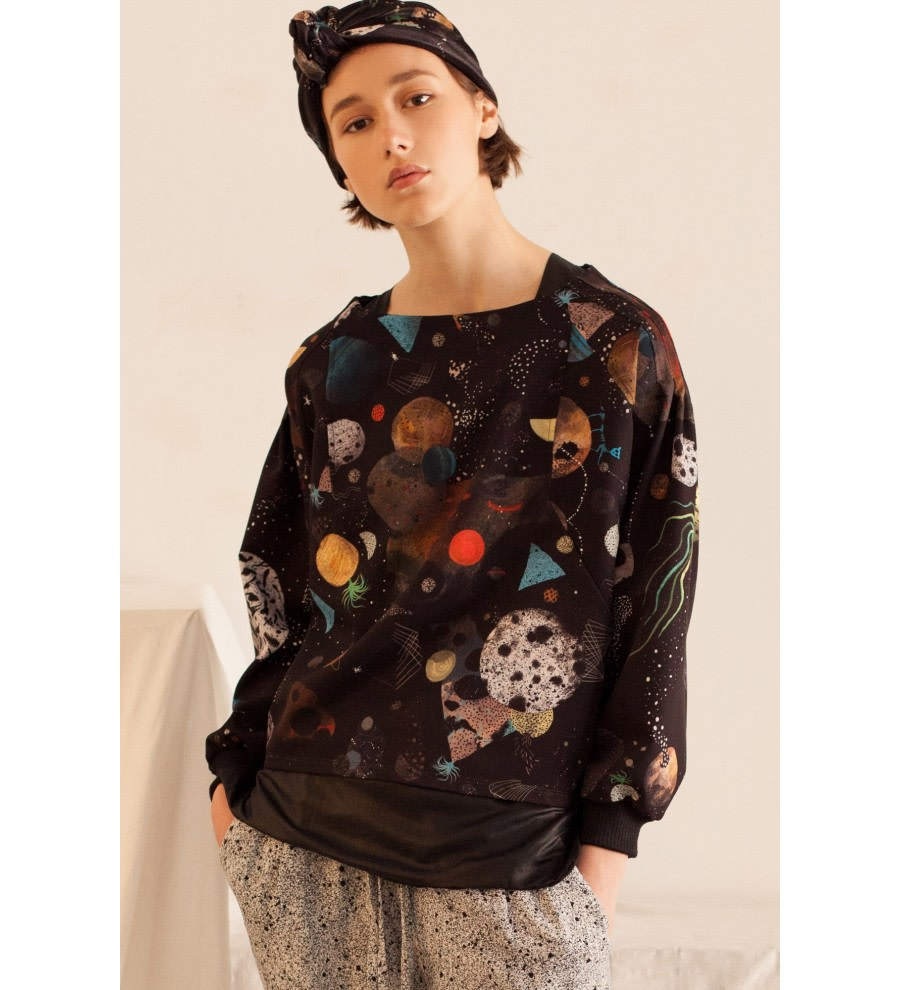 Galaxy Print Sweatshirt