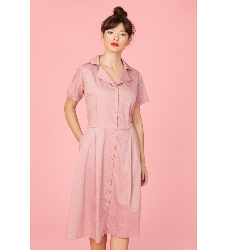 Dusty Rose Shirt Dress