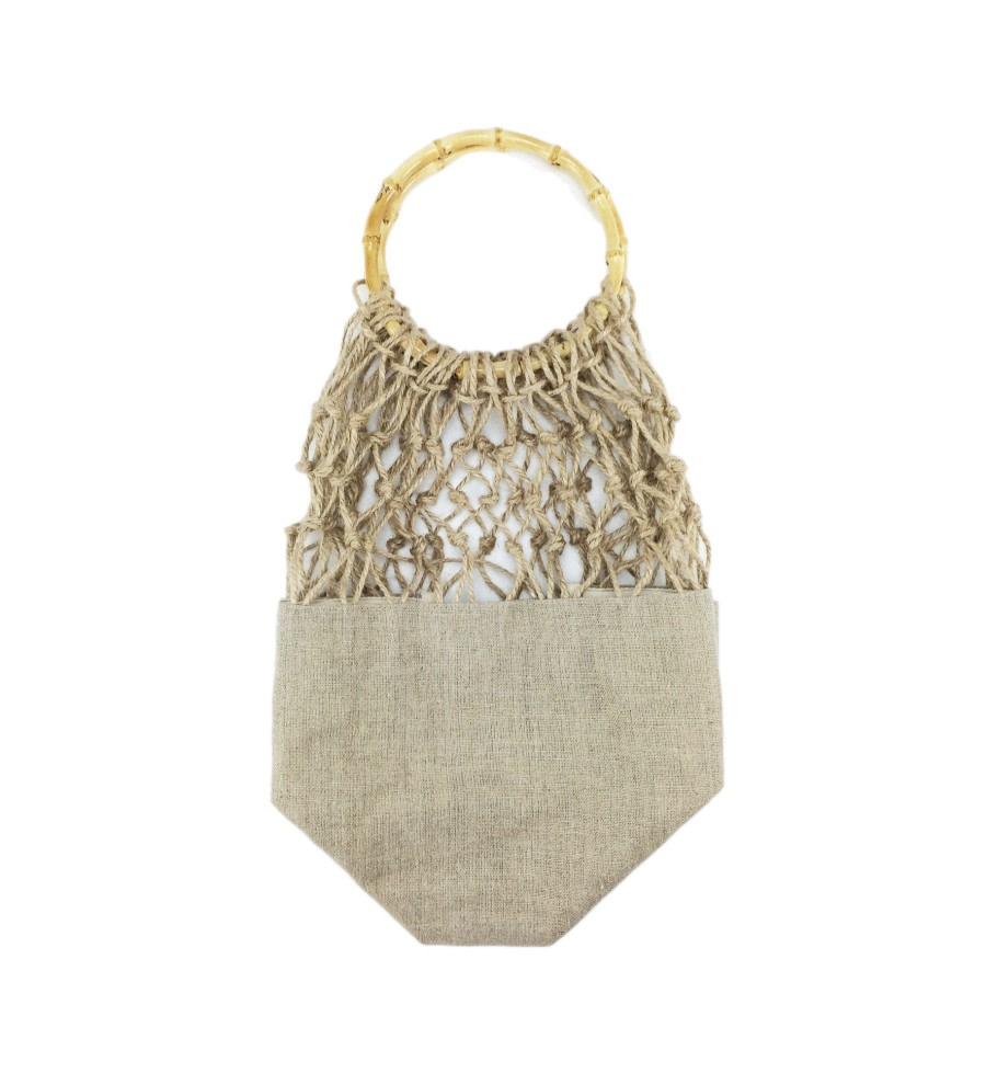 Bamboo-Handle Net Bag