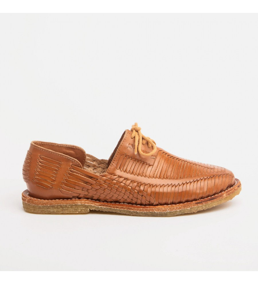 Benito Cognac Woven Loafers