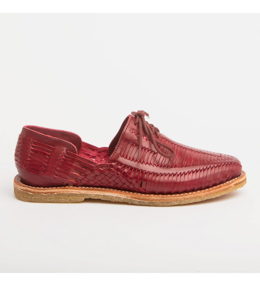 Benito Red Woven Loafers