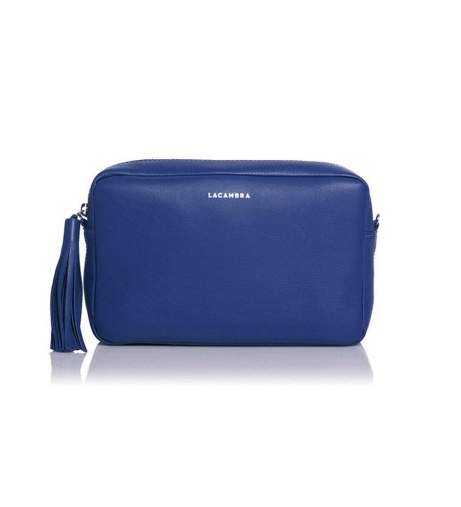 Deep Blue Leather Crossbody Bag