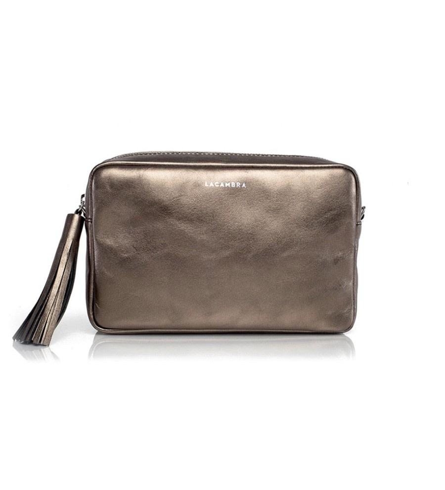 Bronze Leather Crossbody Bag
