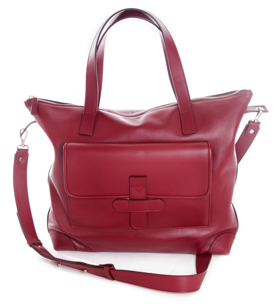 Bordeaux Leather Shoulder Bag