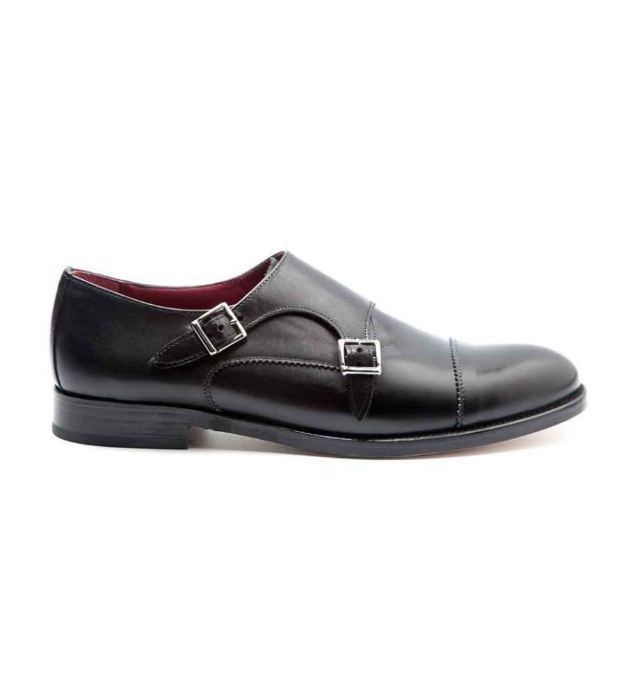 Monk-Strap Leather Shoes