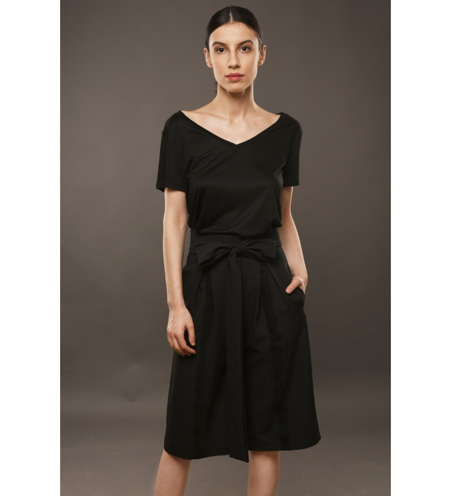 Black Pleated Culottes
