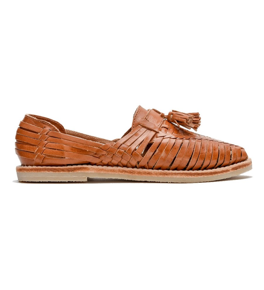 Frida Cognac Tassel Loafers