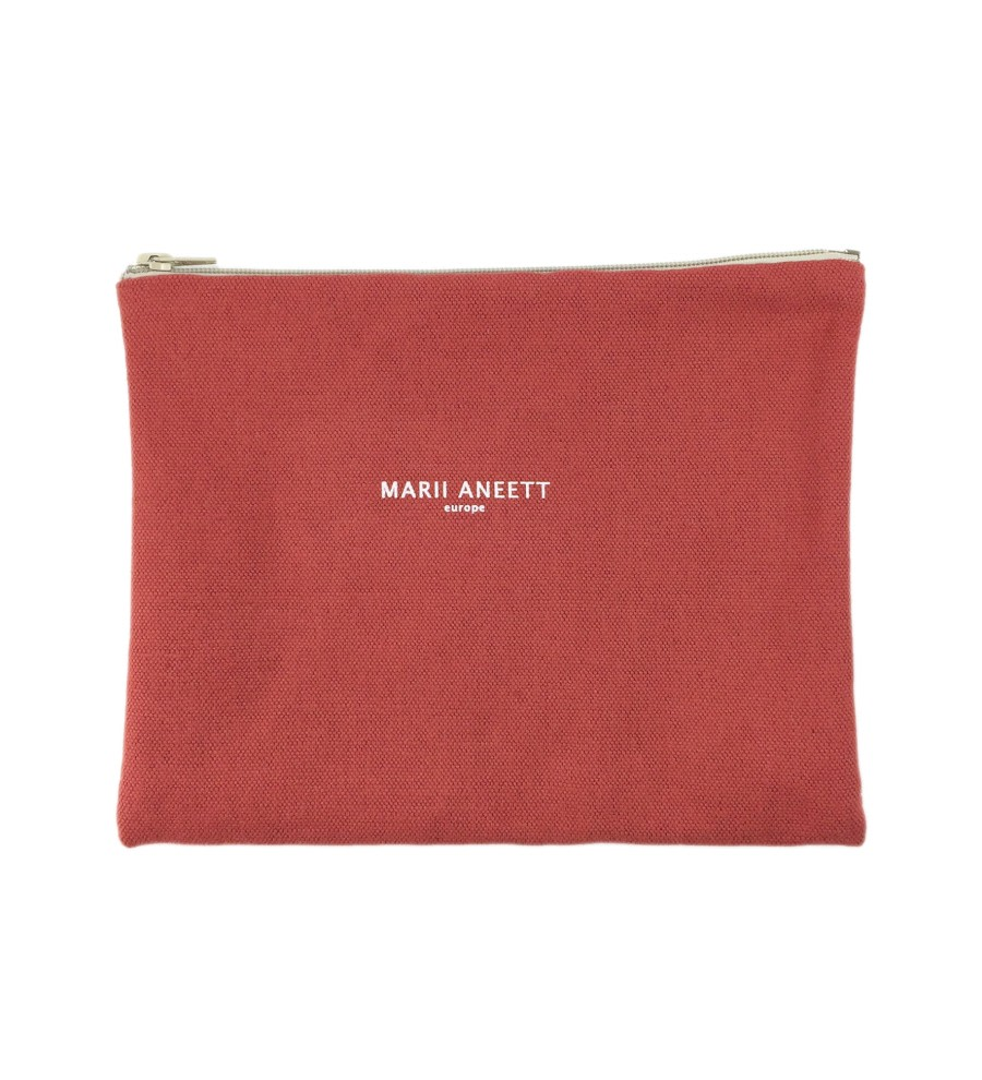 Carla Red Cotton Pouch