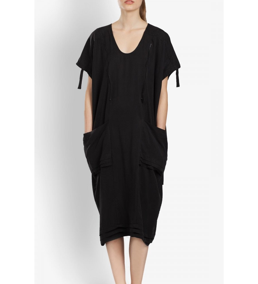 Oversized Tencel Tunic Dress