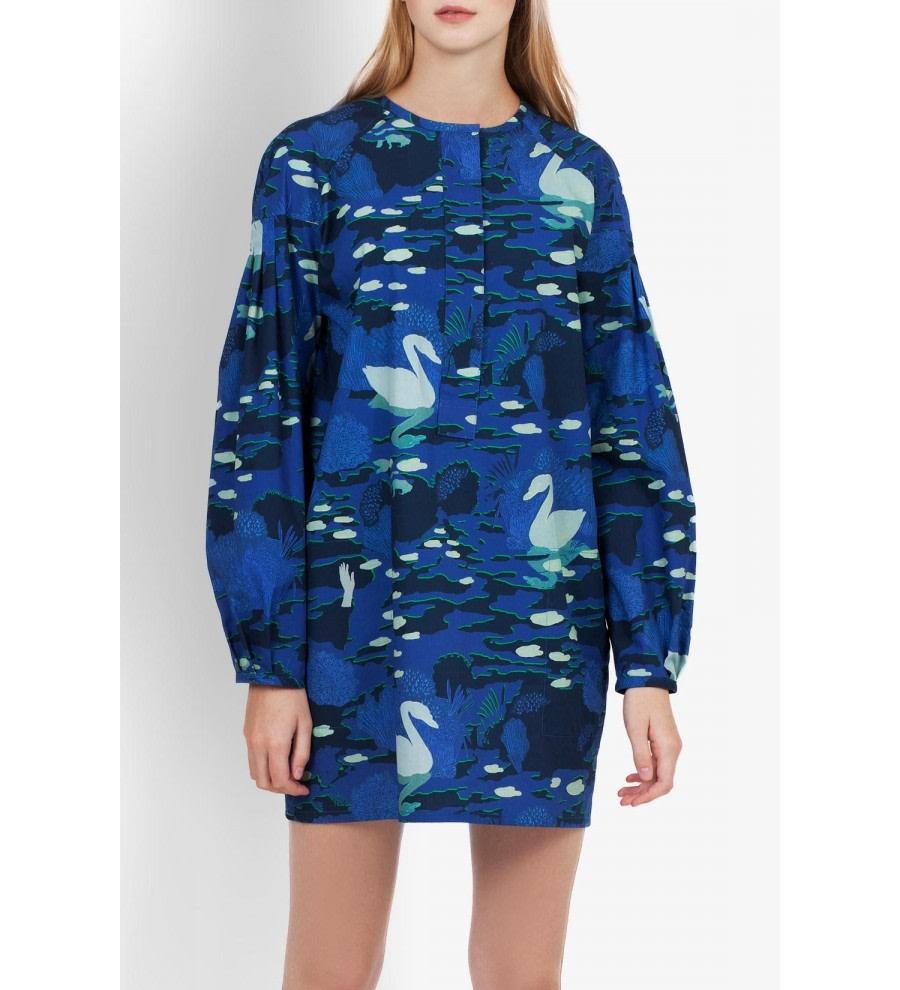 Dolo Swan Print Dress