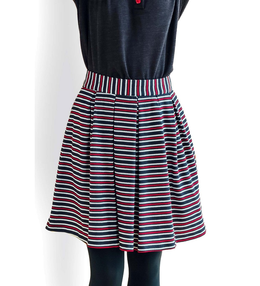 Greta Striped Skirt