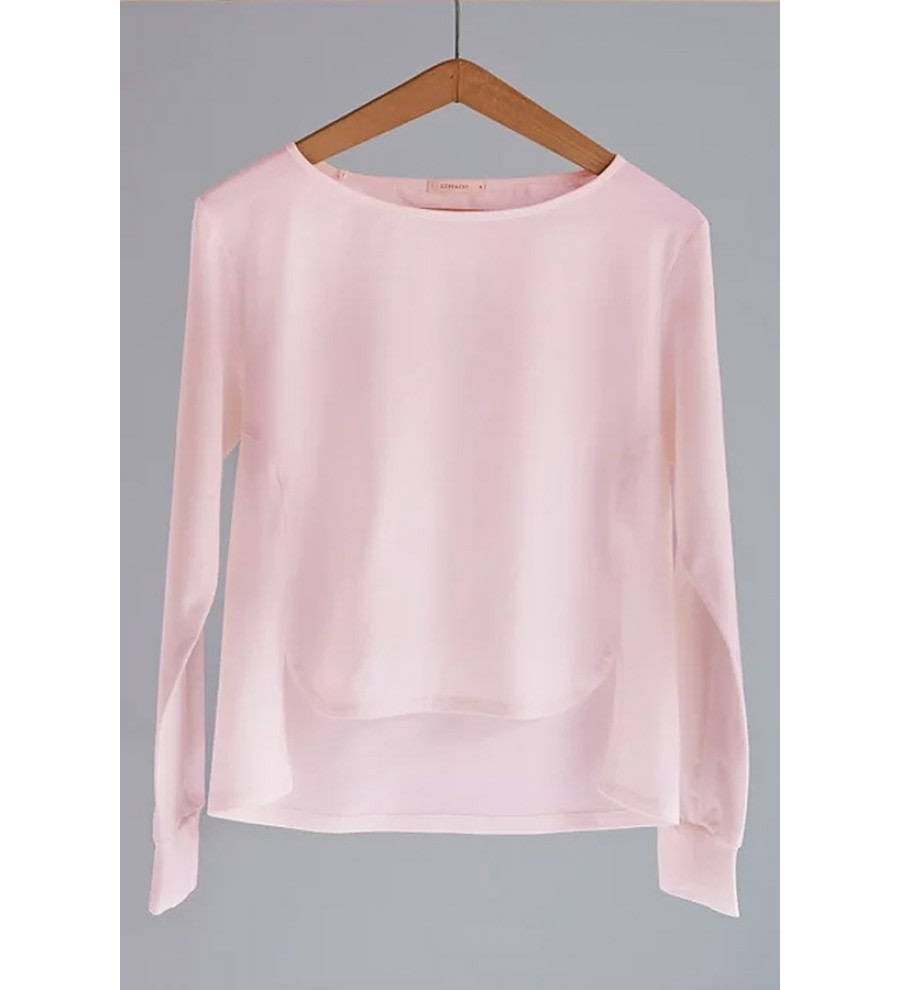 Rose Asymmetric Organic Cotton Top