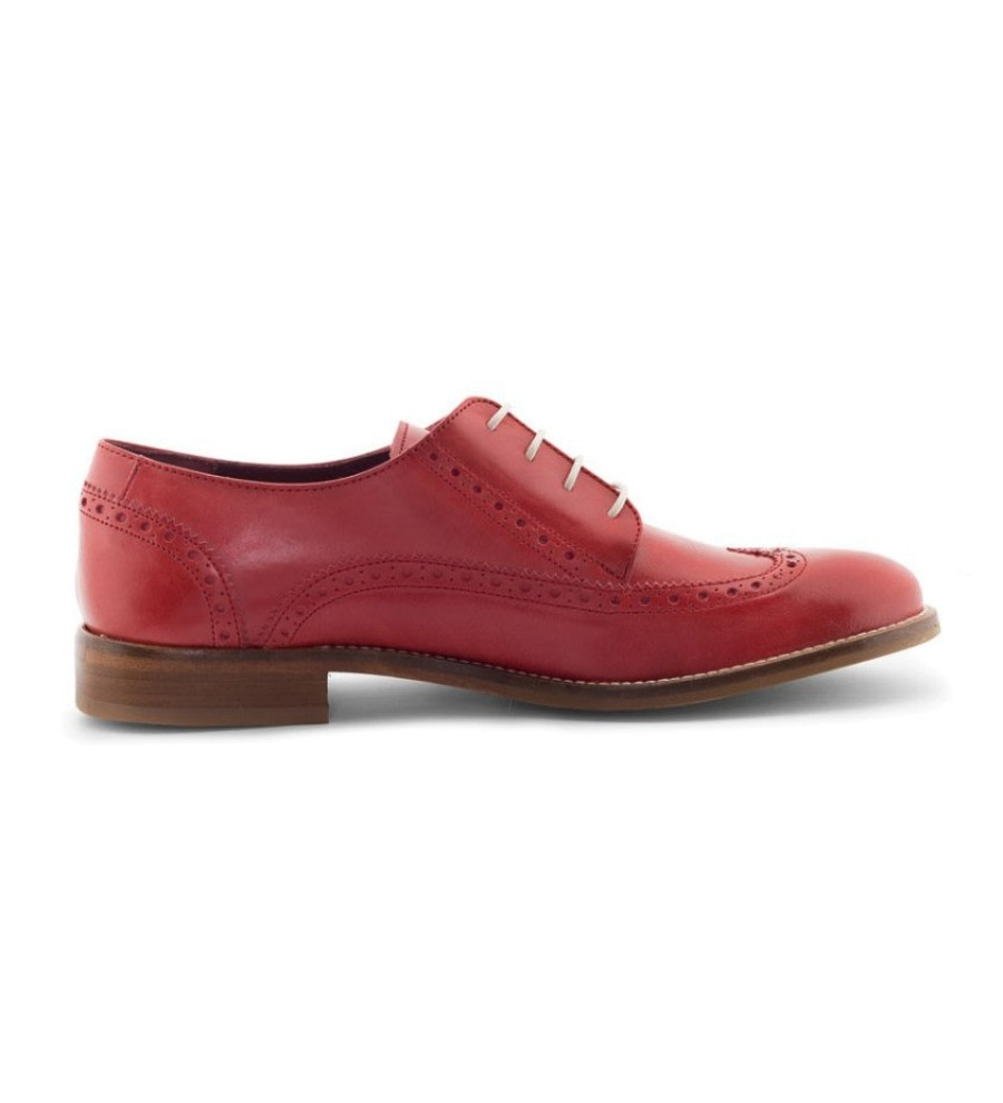 Ethel Orange Leather Brogues