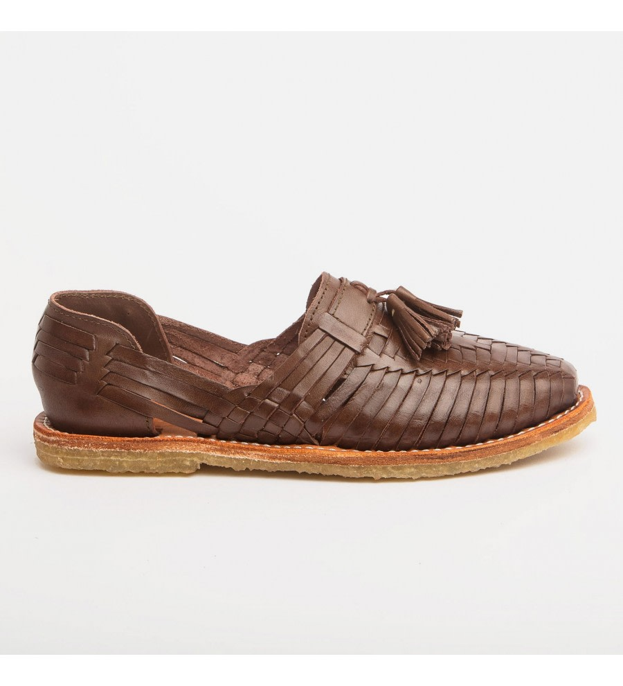 Frida Coffee Tassel Loafers