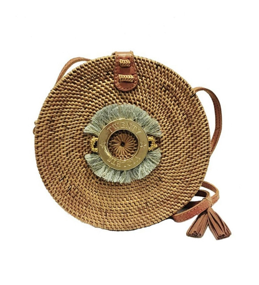 Fringe Rattan Straw Bag
