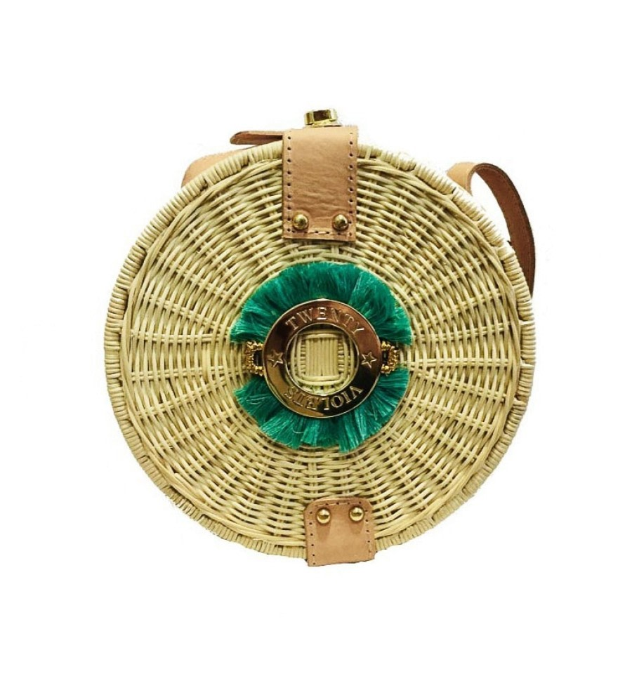 Fringe Wicker Straw Bag
