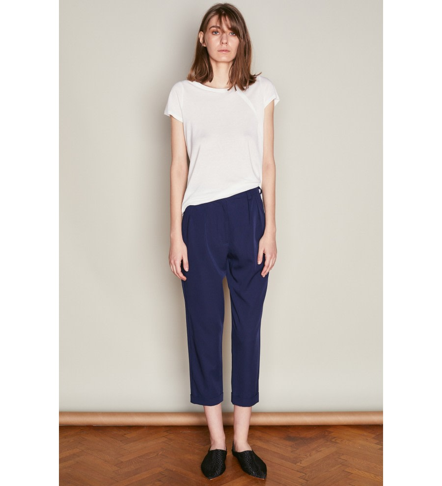 High-Waisted Pleated Trousers