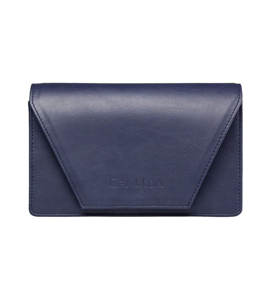 Hybrid Blue Vegan Leather Bag
