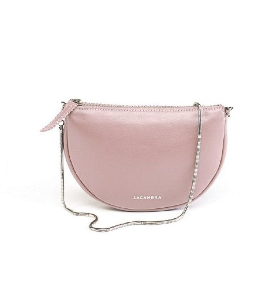 Luna Pink Leather Crossbody Bag