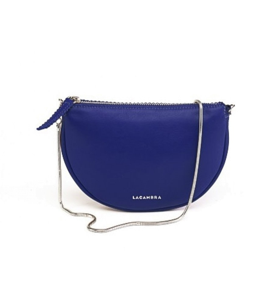 Luna Blue Leather Crossbody Bag