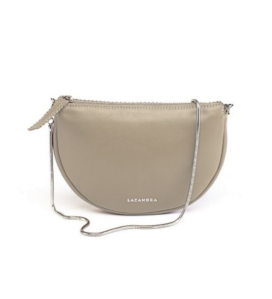 Luna Beige Leather Crossbody Bag
