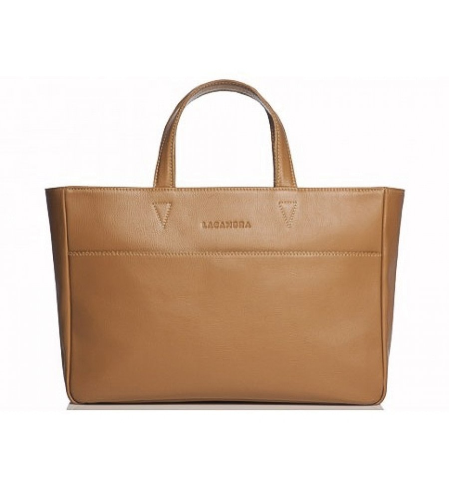 Camel Large Leather Tote