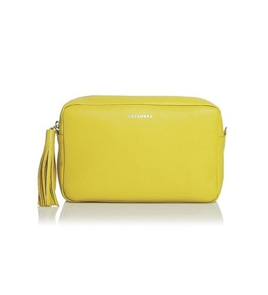 Yellow Leather Crossbody Bag