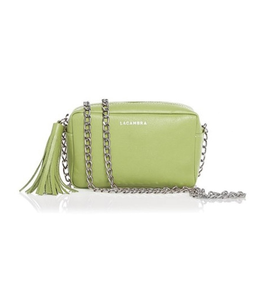 Lime Mini Tassel Crossbody Bag