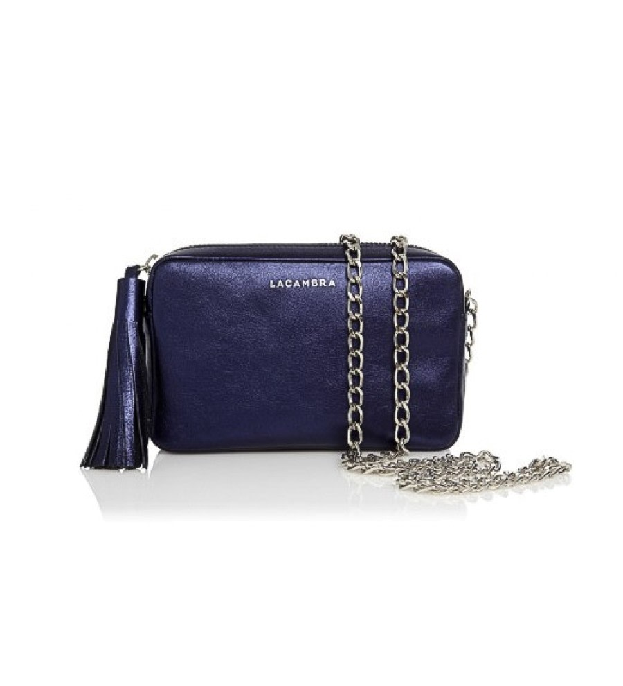 Metallic Mini Tassel Crossbody Bag